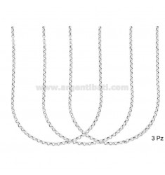 CHAIN 3 ROLO 'DIAMETER SHIRT MM 2.6 MM THICKNESS 0.8 SILVER RHODIUM TIT 925 ‰ CM 40