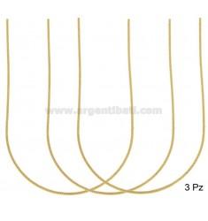 PZ 3 GRINDETTINKETTE MM 1 CM 45 SILBER GOLDEN 925 ‰