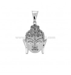 CIONDOLO BUDDHA MM 22X16 IN ARGENTO RODIATO TIT 925‰