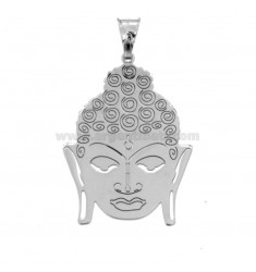CIONDOLO BUDDHA MM 31X23 IN ARGENTO RODIATO TIT 925‰