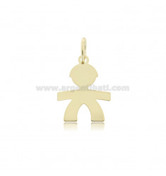 PENDANT BABY WITH SIZE 22X17 IN SILVER GOLDEN 925 ‰