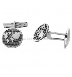 15 MM ROUND CUFFLINKS WITH A RHODIUM AND RUTENIOUS SILVER PLATE TITAN 925 925