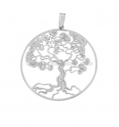 PENDANT TREE OF LIFE 30 MM SILVER RHODIUM TIT 925 ‰
