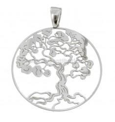 Anhänger Baum des Lebens 35 MM Silber Rhodium TIT 925 ‰