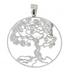 PENDANT TREE OF LIFE 35 MM SILVER RHODIUM TIT 925 ‰