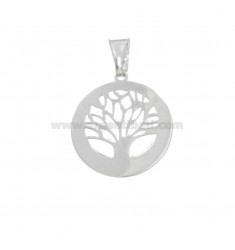 PENDANT TREE OF LIFE 20 MM SILVER RHODIUM TIT 925 ‰