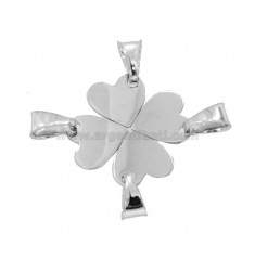 PENDANT QUADRIFOGLIO DIVIDABLE 4 MM 19X19 SILVER RHODIUM TIT 925