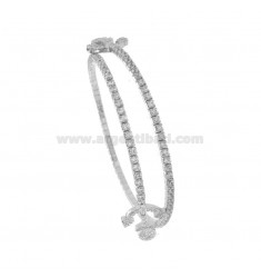 RIGID TENNIS BRACELET WITH ANCHOR IN RHODIUM SILVER TIT 925 ‰ AND ZIRCONIA