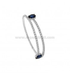 RIGID TENNIS BRACELET WITH ZIRCONIA IN RHODIUM SILVER TIT 925 ‰