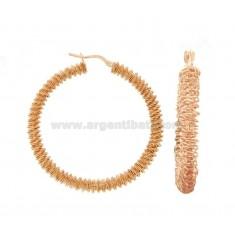 RING-OHRRINGE MIT DIAMOND SPIRAL DIAMOND 40 SILBER ROSE TIT 925 ‰