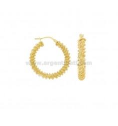 RING-OHRRINGE MIT DIAMOND SPIRAL DIAMOND 25 SILBER SILBER TIT 925 ‰