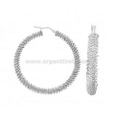 RING-OHRRINGE MIT DIAMOND SPIRAL DIAMOND 40 SILBER RHODIUM TIT 925 ‰