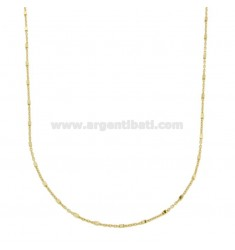 SAURAL CHAIN WITH CUBES IN GOLDEN SILVER TIT 925 60 CM 60