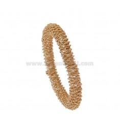 ELASTIC BRACELET WITH DIAMOND SPIRAL DIAMOND 8 SILVER ROSE TIT 925 ‰
