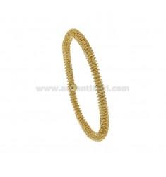 ELASTIC BRACELET WITH DIAMOND SPIRAL DIAMOND WIRE 5 GOLD SILVER TIT 925 ‰