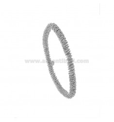 ELASTIC BRACELET WITH DIAMOND SPIRAL DIAMOND WIRE 5 IN SILVER RHODIUM TIT 925 ‰
