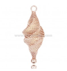 TOOTH PENDANT WITH DIAMOND SPIRAL WIRE IN SILVER ROSE TIT 925 ‰