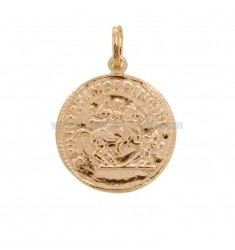 COIN PENDANT 23 MM SILVER ROSE TIT 925