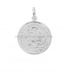 COIN PENDANT 23 MM SILVER RHODIUM TIT 925
