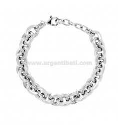 BRACELET SQUARE BARREL SQUARE MM 11 AUS SILBER RHODIUM TIT 925 CM 19-21