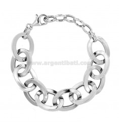 BRACELET SQUARE BARREL SQUARE 22 MM SILBER RHODIUM TIT 925 CM 19-21