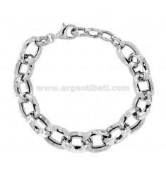 Diamantseilarmband 17 mm Silber Rhodium TIT 925 CM 19-21