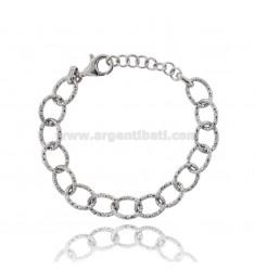 BRACELET DIAMOND RING CABLE 13 MM SILVER RHODIUM TIT 925 CM 19-21
