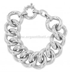 EMBROIDERED BRACELET SWEATER MM 22 IN SILVER RHODIUM TIT 925 CM 19-21