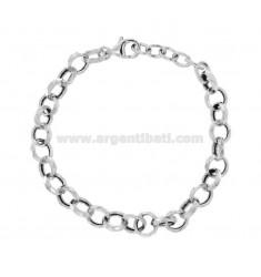 ROLO BRACELET 'DIAMOND DIAMOND 8 MM 2.3 SILVER RHODIUM TIT 925 CM 19-21