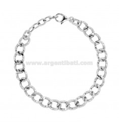 Armband OVAL SWEATER 10 MM IN SILBER RHODIUM TIT 925 CM 19-21