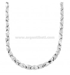 MEN'S SEGMENT NECKLACE 50 CM IN RHODIUM SILVER TIT 925 ‰