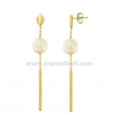 PENDANT EARRINGS WITH PEARL SILVER SILVER TIT 925 ‰