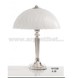 LAMPADA VETRO RIGHE LUCIDE H. CM 38 IN AG TIT. 925‰