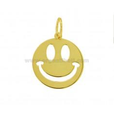 CIONDOLO SMILE MM 20 IN ARGENTO DORATO TIT 925‰