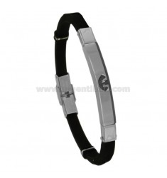 BRACELET IN STEEL WITH STILL AND CAUCCIU 'CM 21