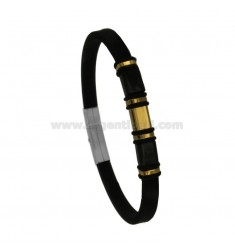BRACELET IN GOLD STEEL WITH PLATE E CAUCCIU 'CM 21