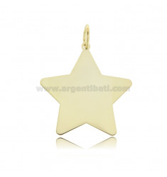 PENDANT STAR 30X29 MM LASER CUTTING IN GOLDEN SILVER TIT 925 ‰