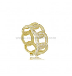 GROUMETTE RING IN SILVER SILVER TIT 925 AND WHITE ZIRCONIA SIZE 16