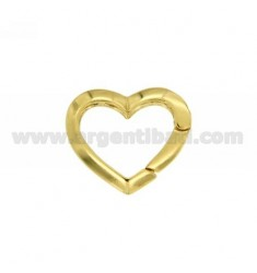 CLOSURE SMARTER HEART IN AG 21X24 MM GOLD PLATED TIT 925 ‰