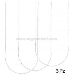 PZ 3 BOLA DE CADENA EN FORMA DE 45 MM 1.2 MM PLATA 925 ‰