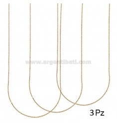 PZ 3 CHAIN BALL FACED 40 CM MM 1.2 SILVER COPPER 925 ‰