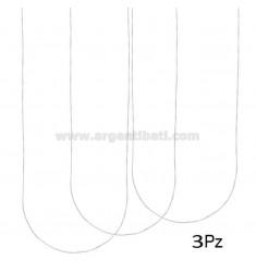 PZ 3 CADENA VENECIANA MM 0.6 CM 50 PLATA TIT 925