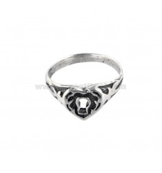 RING WITH POCKET HEART IN BRUNITO SILVER TIT 925 URA SIZE 12