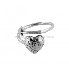 ARROW RING WITH HEART IN BRUNITO SILVER TIT 925 ‰ ADJUSTABLE SIZE