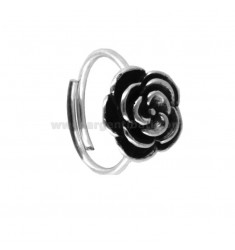 PINK RING IN BRUNITO SILVER TIT 925 ‰ ADJUSTABLE SIZE