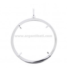 FRAME FOR COIN INTERNAL DIAMETER 41 MM SILVER TIT 925