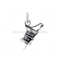 PENDANT NEEDLE AND ROCKET COTTON MM 28X10 SILVER BRUNITO TIT 800