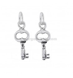 PENDANT PZ 2 KEY 25X10 MM IN SILVER BRUNITO TIT 800