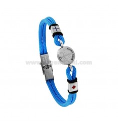 ROPE BRACELET WITH STILL IN STEEL AND ENAMEL