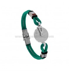ROPE BRACELET WITH STILL AND STEEL AND ENAMEL MOTOR CONTROL